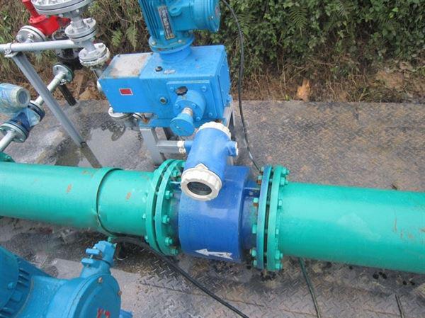 DN150污水电磁亚博vip6的应用